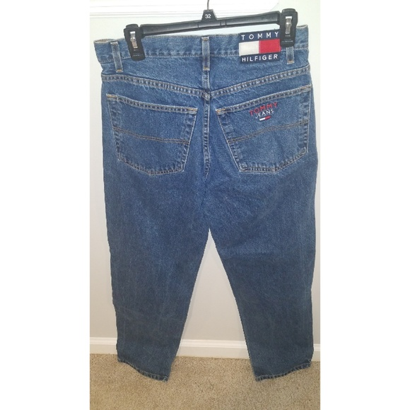 26ec25a4 Tommy Hilfiger Jeans | 90s Tommy Flag Logo 32x34 | Poshmark